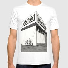 Tool Town SMALL White Mens Fitted Tee