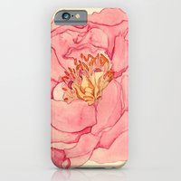 iPhone & iPod Case featuring Vintage Peony by Krystal Nicole