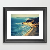 La Jolla Cliffs Framed Art Print
