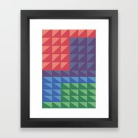 Flatris Framed Art Print