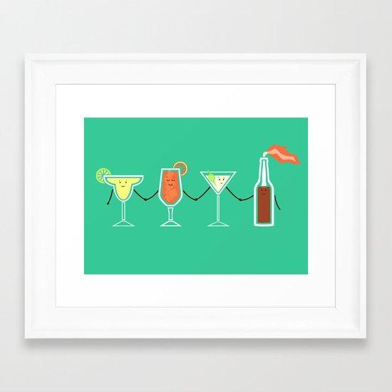 Cocktails! Framed Art Print