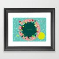 Planet Nine Framed Art Print