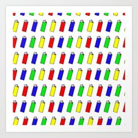 Lighters: The Most Stole… Art Print
