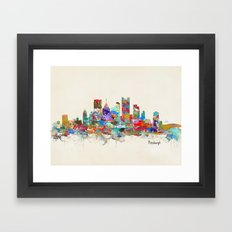 Pittsburgh Pennsylvania … Framed Art Print