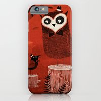 La Chouette et le Corbeau iPhone 6 Slim Case