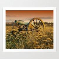 Antique Field Canon Art Print