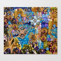 Gold, Glitter, Gems and Sparkles Canvas Print