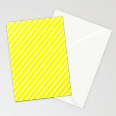 Diagonal Lines (White/Yellow) Stationery Cards