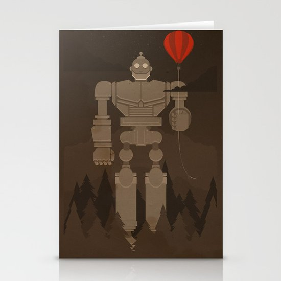 The Robot and The Balloon Stationery Card