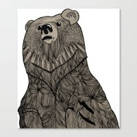 Beary Hairy Canvas Print