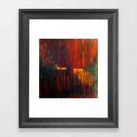 Fire on Water Framed Art Print