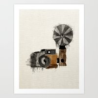Camera Evolution Art Print