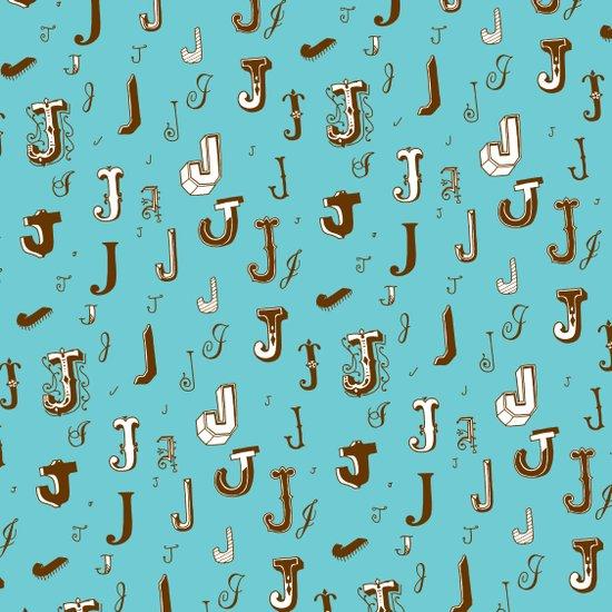 Letter Patterns, Part J Art Print