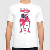 We Can Be Bowie...(Part II) Mens Fitted Tee White SMALL
