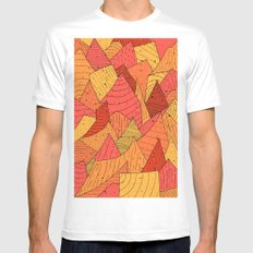 Pumpkin Slices Mens Fitted Tee White SMALL