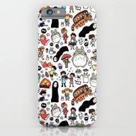 Kawaii Ghibli Doodle iPhone 6 Slim Case