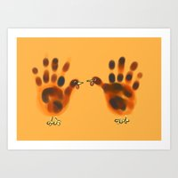 Two Hands For Thanksgivi… Art Print