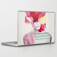 red Laptop & iPad Skins featuring Bright Pink - Part 2  by Jenny Liz Rome