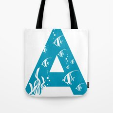 A is for Angelfish - Animal Alphabet Series Tote Bag