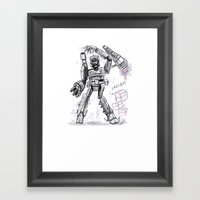 Megatron Contest Weirdo Framed Art Print