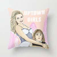 Uptown Girls Throw Pillow