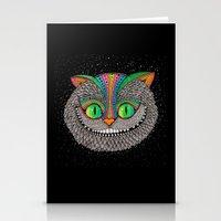Alice in wonderland art fan by Luna Portnoi Stationery Cards