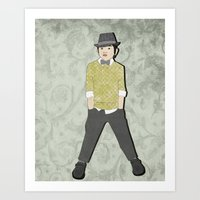 boys formal wear lime plaid Art Print