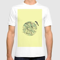 Magpie SMALL White Mens Fitted Tee