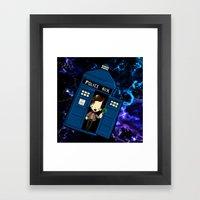 Tardis In Space Doctor W… Framed Art Print