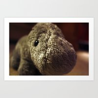 Stuffed Hippo Art Print