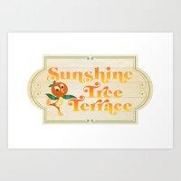 Sunshine Tree Terrace Art Print