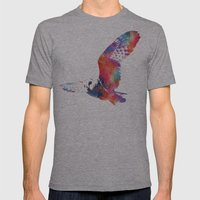 Its A Hoot  Mens Fitted Tee Athletic Grey SMALL