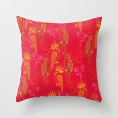 Tropical Birds - Summer School Throw Pillow