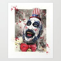 Captain Spaulding -The D… Art Print