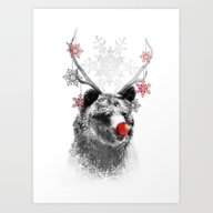 Rudolph The Bear Art Print