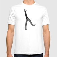 Hey (B&W) Mens Fitted Tee White SMALL