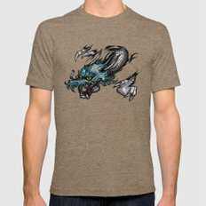Dragon Soar Mens Fitted Tee Tri-Coffee SMALL