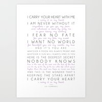 I Carry Your Heart Poem … Art Print