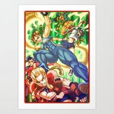 Pixel Art series 17 : Battle ! Art Print