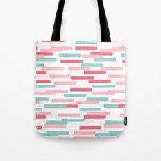 Karena - abstract minimal trendy pattern palette lines dash grid urban affordable dorm college decor Tote Bag