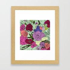 Flowers Bouquet Framed Art Print