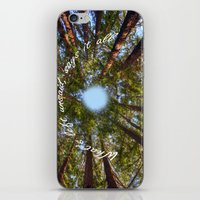 What's left unsaid, says it all! iPhone & iPod Skin
