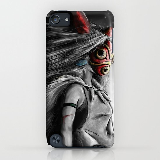 Miyazaki's Mononoke Hime Digital Painting the Wolf Princess Warrior Color Variation iPhone & iPod Case