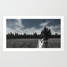 In a field Art Print