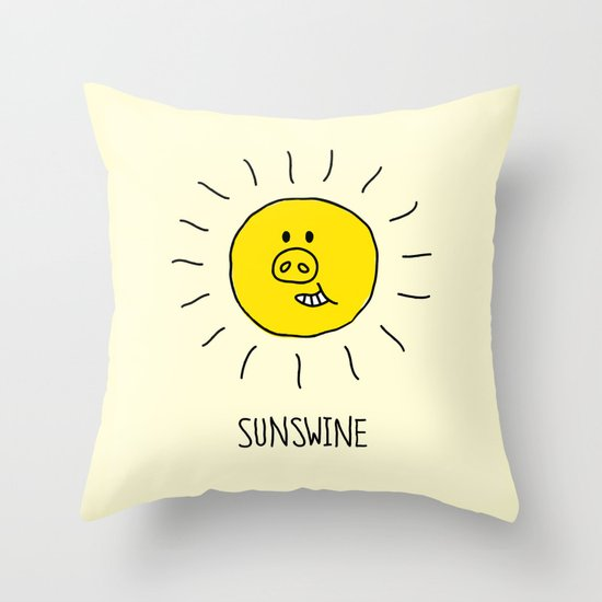 Sunswine Throw Pillow
