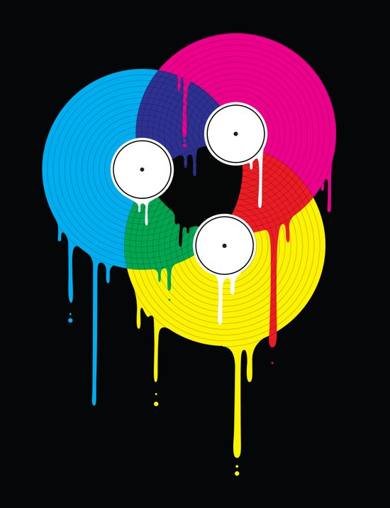 Melting Vinyl Art Print