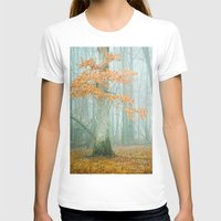 autumn T-shirts featuring Autumn Woods by Olivia Joy StClaire