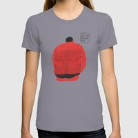 Don't turn your back on me Womens Fitted Tee Slate SMALL