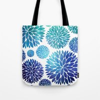 Ocean Flowers Watercolor Tote Bag