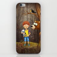 Little Boy With The Anim… iPhone & iPod Skin